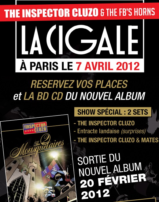 La Cigale - Paris - THE INSPECTOR CLUZO