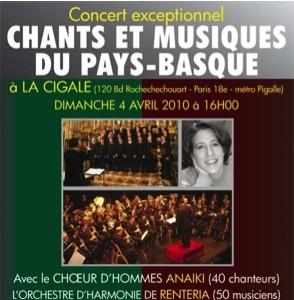 La Cigale - Paris - CHANTS ET MUSIQUES DU PAYS BASQUE