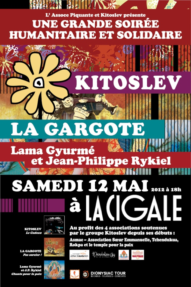 KITOSLEV + LA GARGOTE+LAMA GYURME et JEAN-PHILIPPE RYKIEL