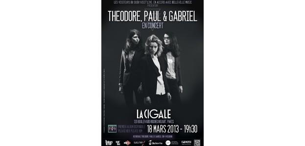La Cigale - Paris - THEODORE, PAUL & GABRIEL