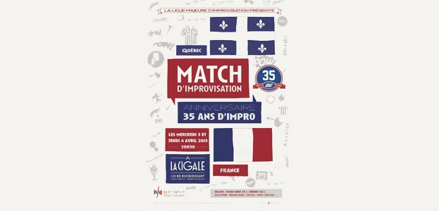 La Cigale - Paris - MATCH D'IMPRO FRANCE/QUEBEC