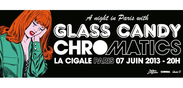 La Cigale - Paris - CHROMATICS + GLASS CANDY