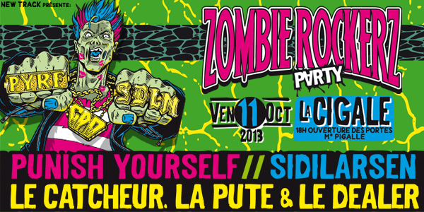 La Cigale - Paris - ZOMBIE ROCKERZ PARTY AVEC