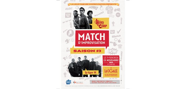 La Cigale - Paris - MATCH D'IMPRO HERO CORP/LA MAJEURE