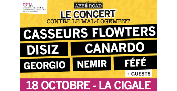 Abbé Road, grand concert contre le mal-logement