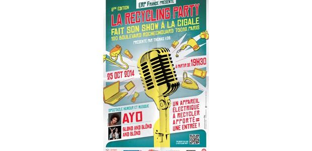 La Cigale - Paris - Recycling Party - 6éme édition : AYO