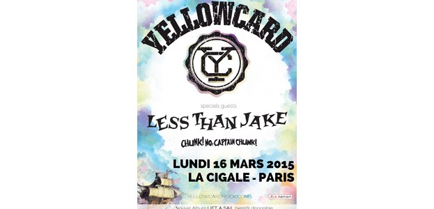 La Cigale - Paris - YELLOWCARD + LESS THAN JAKE