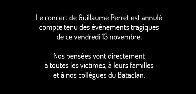 La Cigale - Paris - GUILLAUME PERRET