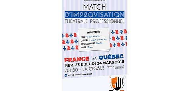 La Cigale - Paris - FRANCE VS QUEBEC