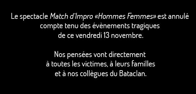 La Cigale - Paris -  MATCH D'IMPRO