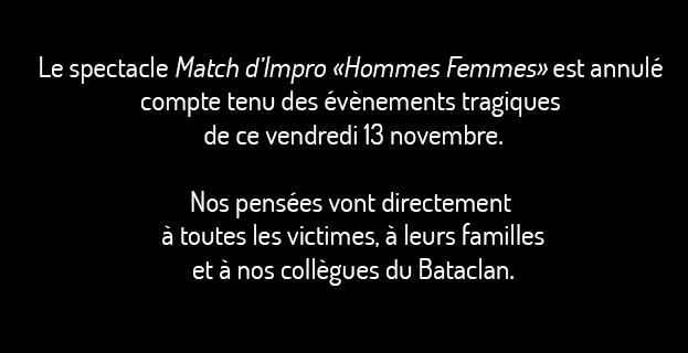 "MATCH D'IMPRO ""HOMMES FEMMES"""