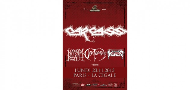 La Cigale - Paris - CARCASS + OBITUARY + NAPALM DEATH + VOIVOD