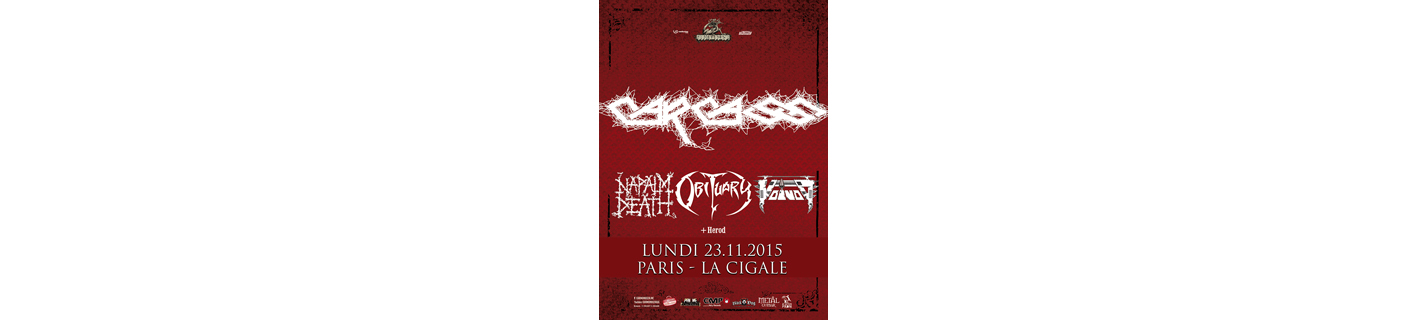 CARCASS + OBITUARY + NAPALM DEATH + VOIVOD