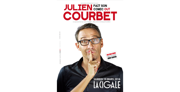 JULIEN COURBET FAIT SON COMIC OUT