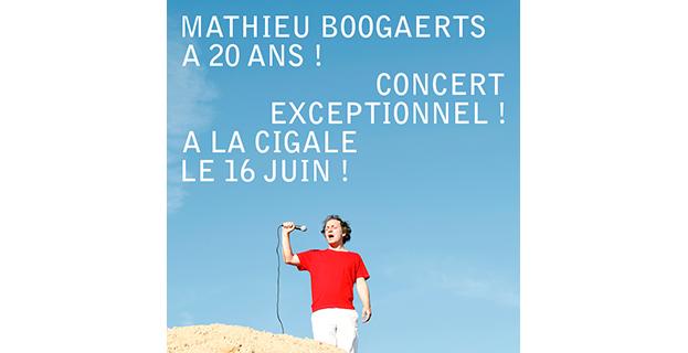 MATHIEU BOOGAERTS A 20 ANS !