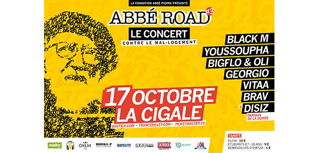 La Cigale - Paris - ABBE ROAD 3 AVEC BLACK M, YOUSSOUPHA, BIGFLO & OLI, DISIZ, GEORGIO, VITAA, BRAV…