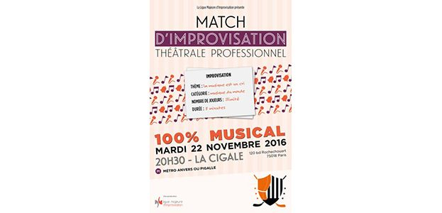 La Cigale - Paris - MATCH D'IMPRO PROFESSIONNEL