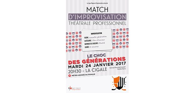 La Cigale - Paris - MATCH D'IMPRO PROFESSIONNEL