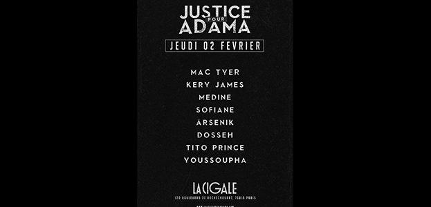 La Cigale - Paris - JUSTICE POUR ADAMA
