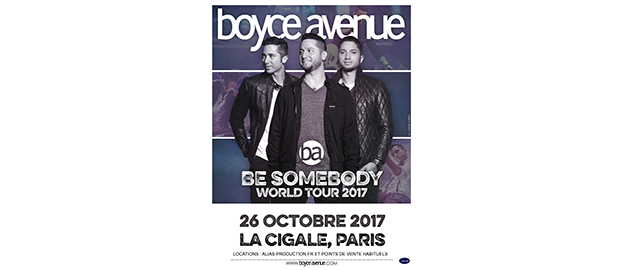 La Cigale - Paris - BOYCE AVENUE