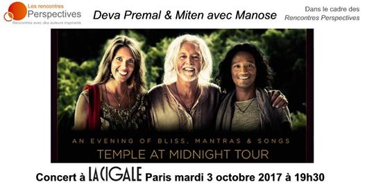 La Cigale - Paris - DEVA PREMAL & MITEN avec MANOSE